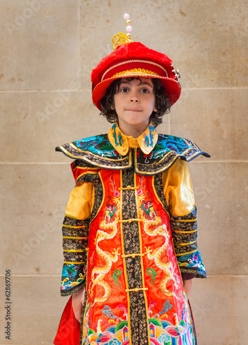 Little Child Chinese Emperor Dressing