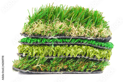 artificial grass astroturf selection isolated on white - 62869718