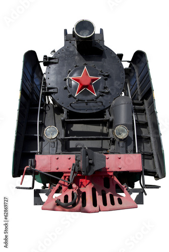 front of the old locomotive