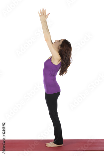 Woman in Upward Salute in Yoga