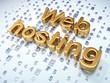 SEO web development concept: Golden Web Hosting on digital
