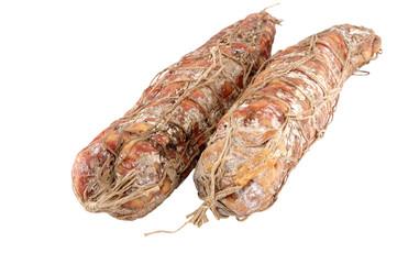 Italian sausage of a salami