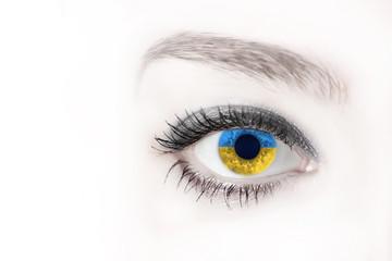 eyes the color of Ukrainian flag