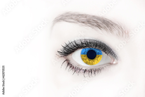 eyes the color of Ukrainian flag