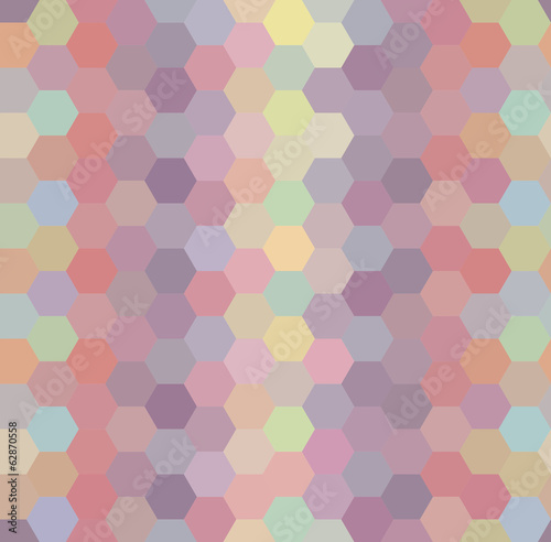 Vector  Seamless Pattern Repeat Colorful Hexagon