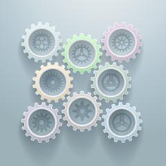 Eight Gears Decorative Background