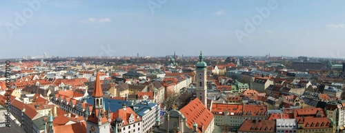 skyline of the old town of Munich