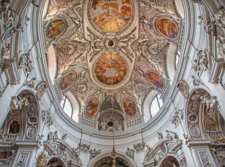 Vienna - Cupola of baroque Servitenkirche - church