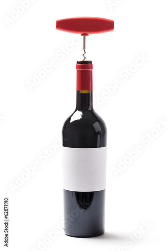 Wine Bottle And Corkscrew