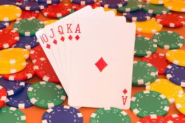 Quinte flush royale in Casino