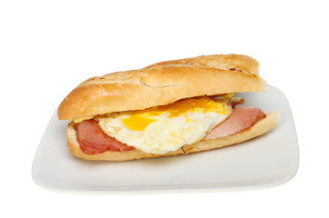 Bacon egg baguette