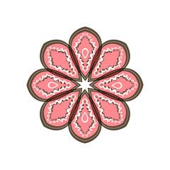 brown pink flower, pattern