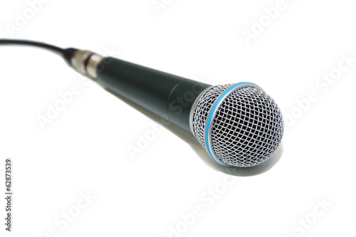 microphone in white background
