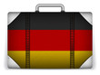 Germany Travel Luggage with Flag for Vacation