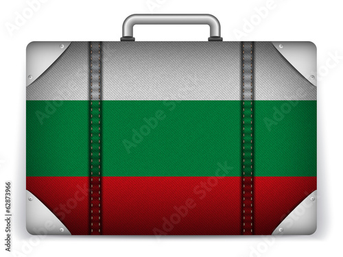 Bulgaria Travel Luggage with Flag for Vacation