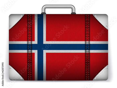 Norway Travel Luggage with Flag for Vacation