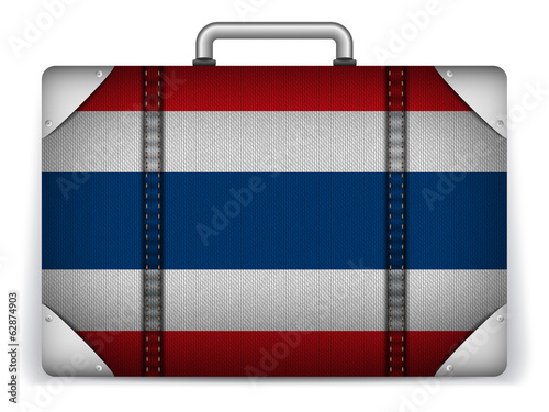Thailand Travel Luggage with Flag for Vacation