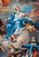 Assumption of Virgin Mary in chapel of Saint Anton palace