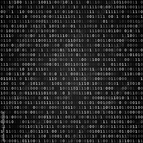 Binary code screen black