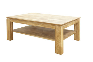 wooden table isolated