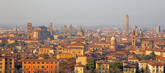 Bologna - Outlook to Bologna old town from church San Michele