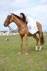 La mariée a  cheval
