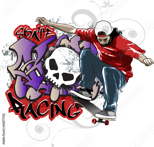 Fototapeta Skate Racing