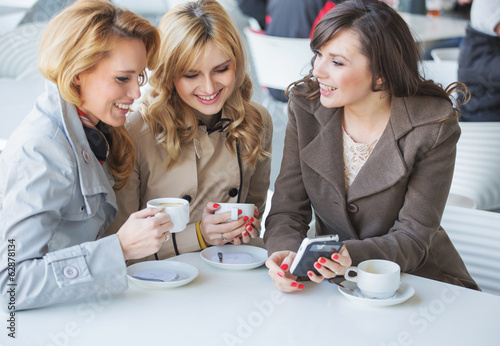 Female friends at the cofee time