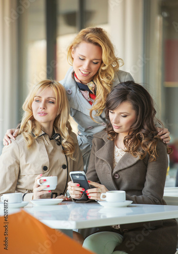 Adult girfriends in the coffee shop