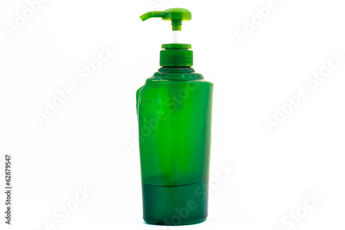 Green lotion bottle , comprising bottle isolated