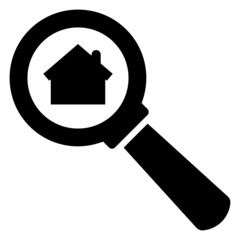 Search home vector icon