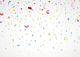 colorful confetti on white background - 62881147