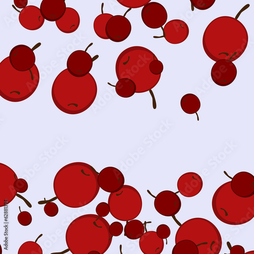 texture with abstract image of the cherries