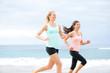 Runners - two women running outdoors