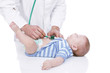 Doctor examins toddler