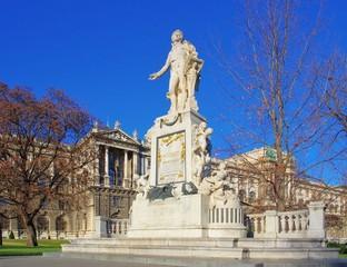 Wien Mozartdenkmal - Vienna Mozart monument 01