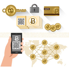 ビットコイン 仮想通貨 Bitcoin related items - P2P system, secure key