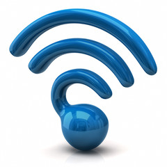 Blue illustration of wifi icon