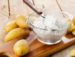 New potatoes and starch