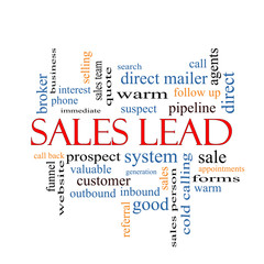Sales Lead Word Cloud Concept