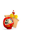 Votive Picture And Smile Daruma Doll With Text Space