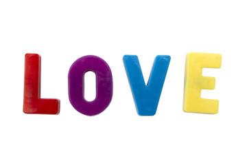 Letter magnets love