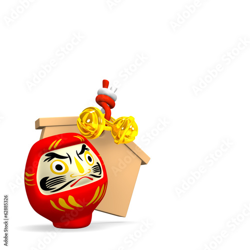 Votive Picture And Daruma Doll With Text Space