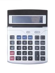 Digital calculator isolated
