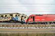 canvas print picture - Train crash