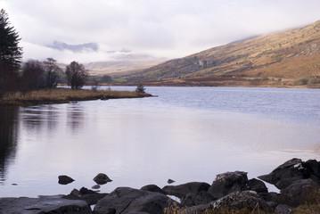 Llynnau Mymbyr Lakes, Capel Curig, Wales, UK