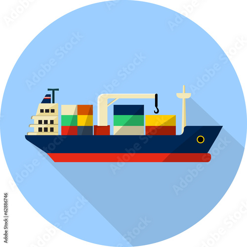 tanker cargo ship with containers