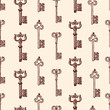 pattern of ancient keys