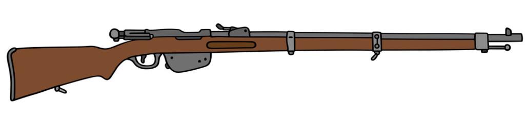 vintage military rifle