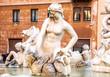Fountain of Neptune. Roma. Italy.